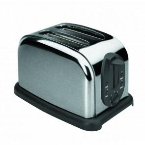 Grille-pain automatique inox deux tranches - 1000w - Grille-pain - Lacor