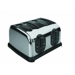 Grille-pain automatique inox quatre tranches - 1000w - Grille-pain - Lacor