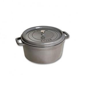 Cocotte en fonte ronde 30 cm gris graphite - Fondamentales - Staub