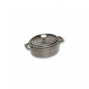 Cocotte en fonte ovale 11 cm gris graphite - Fondamentales - Staub