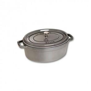 Cocotte en fonte ovale 31 cm gris graphite - Fondamentales - Staub