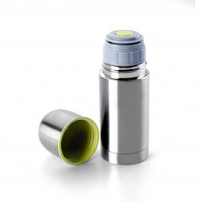 Mini bouteille isotherme 125ml acier inoxydable double paroi 5 x 5 x 14cm - Ibili