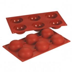 Moule flexible en silicone Bake flex - 6 demi-sphères - Bake Flex - Az Boutique