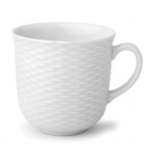 Mug en porcelaine 37cl blanc - Basket - Pillivuyt