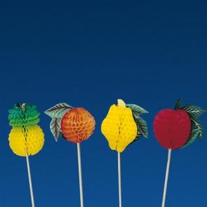 Pique décoration fruit coloré pour glace 10cm - Lot de 100 - Décorations glace - AZ boutique