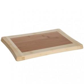 Planche à découper en bois de bambou 33cm x 23cm x 1,8cm - Benin - Cosy & Trendy