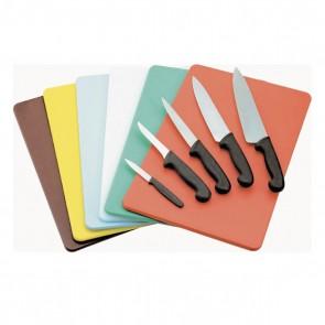 Planche à découper verte 40 x 30 x 1cm fruits et légumes en polyéthylène - AZ Boutique