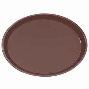 Plateau de bar antidérapant ovale en fibre marron 67 x 55,5 cm - AZ Boutique