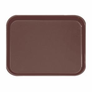 Plateau de bar antidérapant rectangulaire en fibre marron 51 x 38 cm cm - AZ Boutique