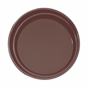Plateau de bar antidérapant rond en fibre marron 35,5 cm - AZ Boutique