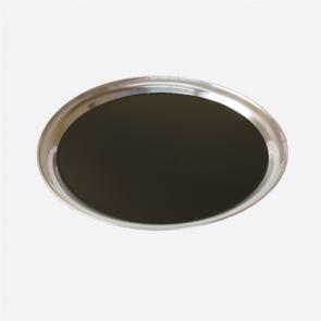 Plateau de bar rond en inox noir 40 cm - AZ Boutique