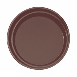 Plateau de bar antidérapant rond en fibre marron 40 cm - AZ Boutique