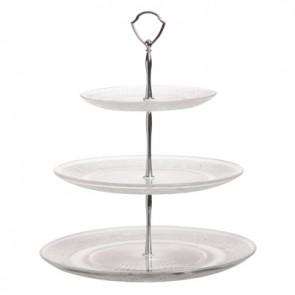 Présentoir à gâteaux 3 niveaux 18cm / 25,5cm / 29cm - hauteur 34cm - Retro - Cosy & Trendy