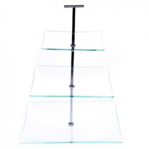 Présentoir à gâteaux 3 niveaux 25cm / 20cm / 15cm - hauteur 30cm - Buffet - Cosy & Trendy