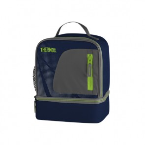 Sac isotherme lunch bag dual compartiment bleu - Radiance - Thermos