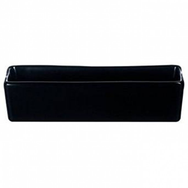 Coupelle rectangulaire 8cl en porcelaine 12 x 3,5cm noire - Purity Divinity - Chef & Sommelier