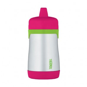 Tasse à bec rigide 29cl rose et vert - Junior - Thermos