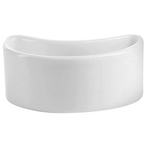 Coupelle demi-lune 4cl en porcelaine 7 x 4,5cm blanche - Purity Divinity - Chef & Sommelier