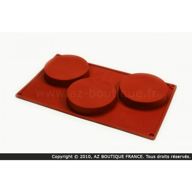 Moule flexible en silicone - 3 biscuits - Flexipad - Paderno
