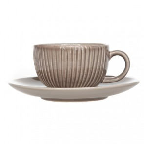 Tasse et soucoupe taupes patines 29cl - Epis - Cosy & Trendy