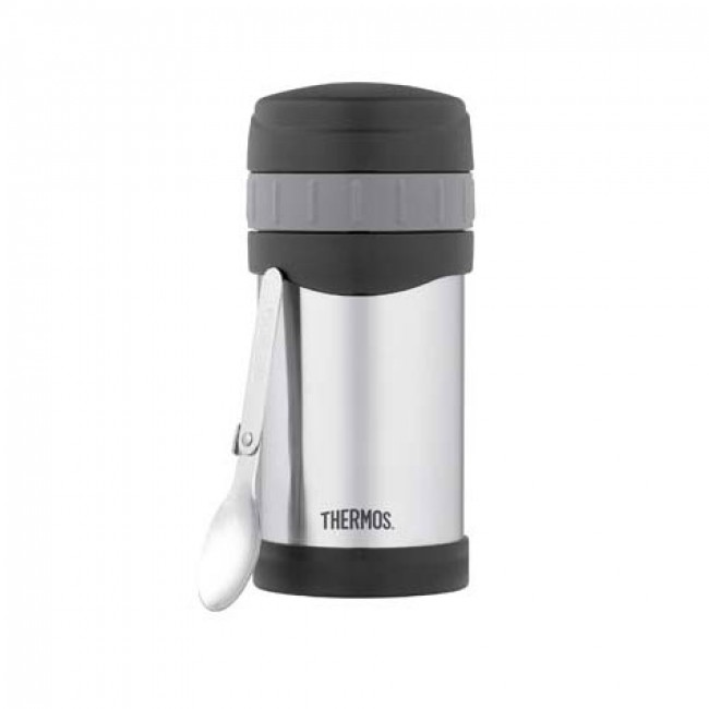 porte aliment inox avec cuill re 50cl thermax thermos. Black Bedroom Furniture Sets. Home Design Ideas