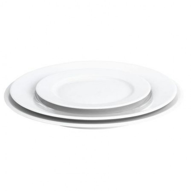assiette plate ronde blanche 28cm en porcelaine sancerre pillivuyt. Black Bedroom Furniture Sets. Home Design Ideas