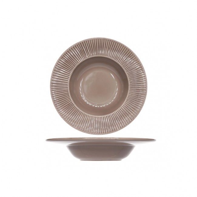 Bol pasta rond taupe patine 35cm - Epis - Cosy & Trendy