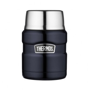 Porte aliment isotherme 45cl bleu  - King - Thermos