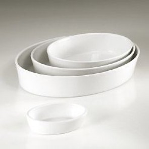Plat sabot ovale blanc 14 x 10cm en porcelaine - Collection Generale - Pillivuyt