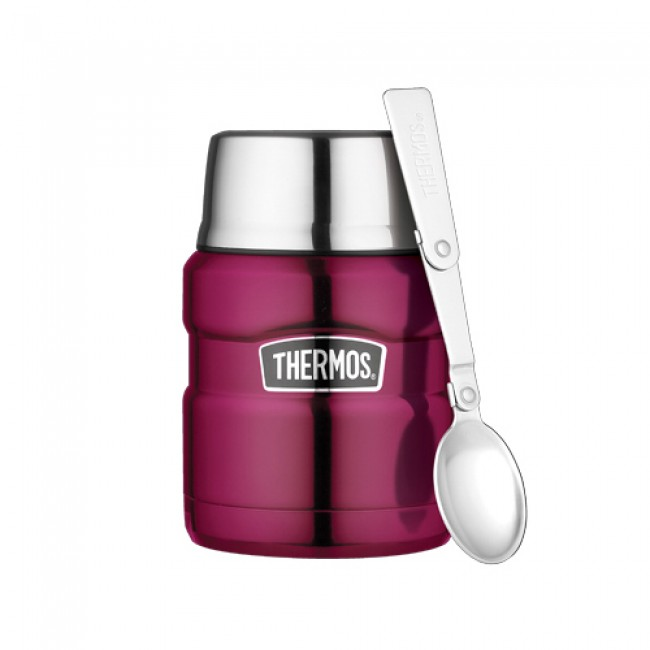 porte aliment isotherme 47cl framboise king thermos