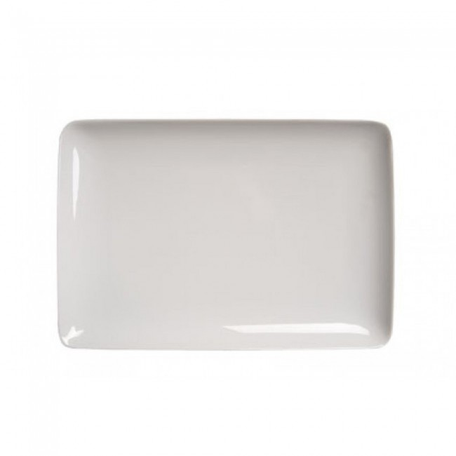 assiette plate rectangle 26x18cm blanche modulo guy degrenne. Black Bedroom Furniture Sets. Home Design Ideas