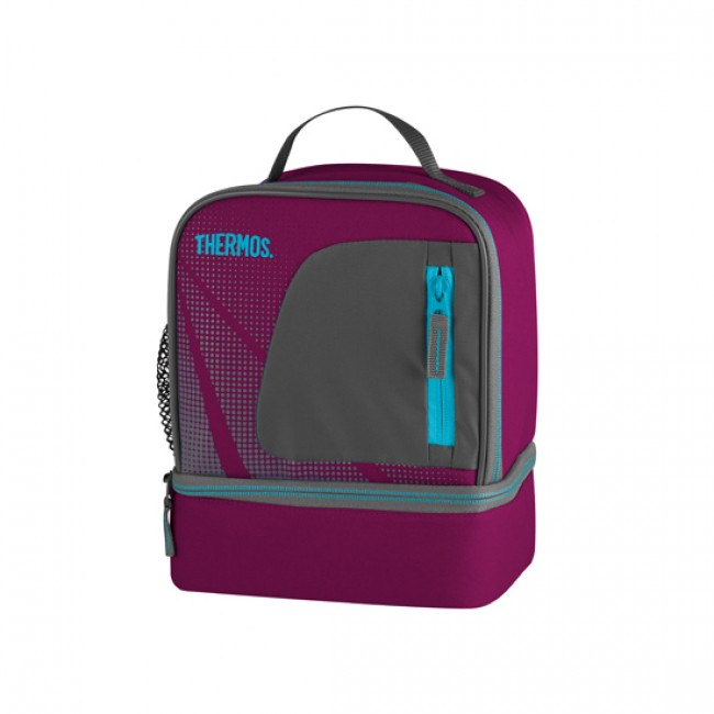 Sac isotherme lunch bag dual compartiment rose - Radiance - Thermos
